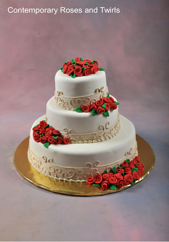 Contemporary-roses-and-twirls-white-wedding-cake-red-roses.full