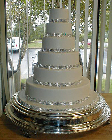 Rhinestone Tiered Wedding Cake