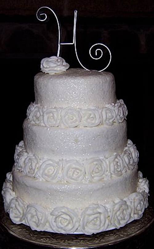 photo of Winter Theme Wedding Cake