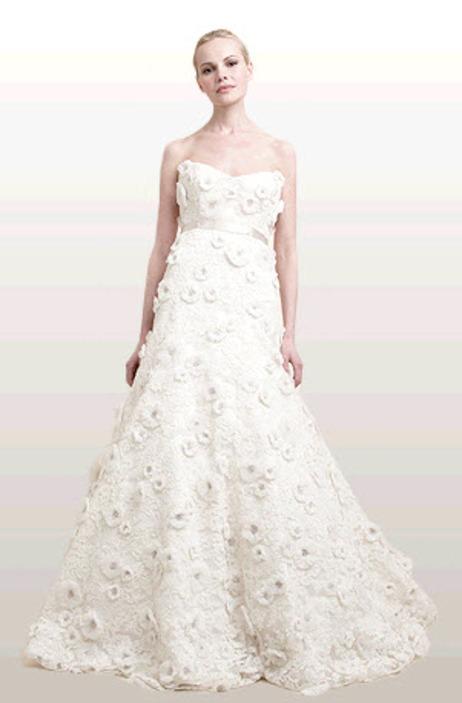 Georgia wedding dress: alencon lace and duchess satin full a-line ...