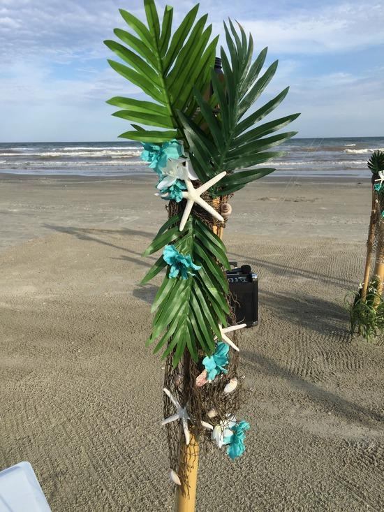 Star Fish Floral Palm Leave Tiki Tources