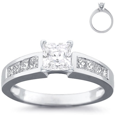 Channel-set-princess-cut-diamond-engagement-ring-setting-18k-white-gold-.5-ct.full