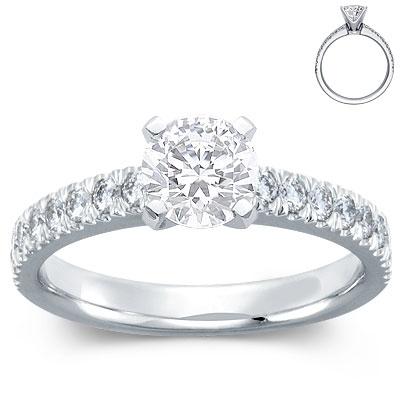 Nouveau-diamond-engagement-ring-setting-platinum-0.33.ct..full