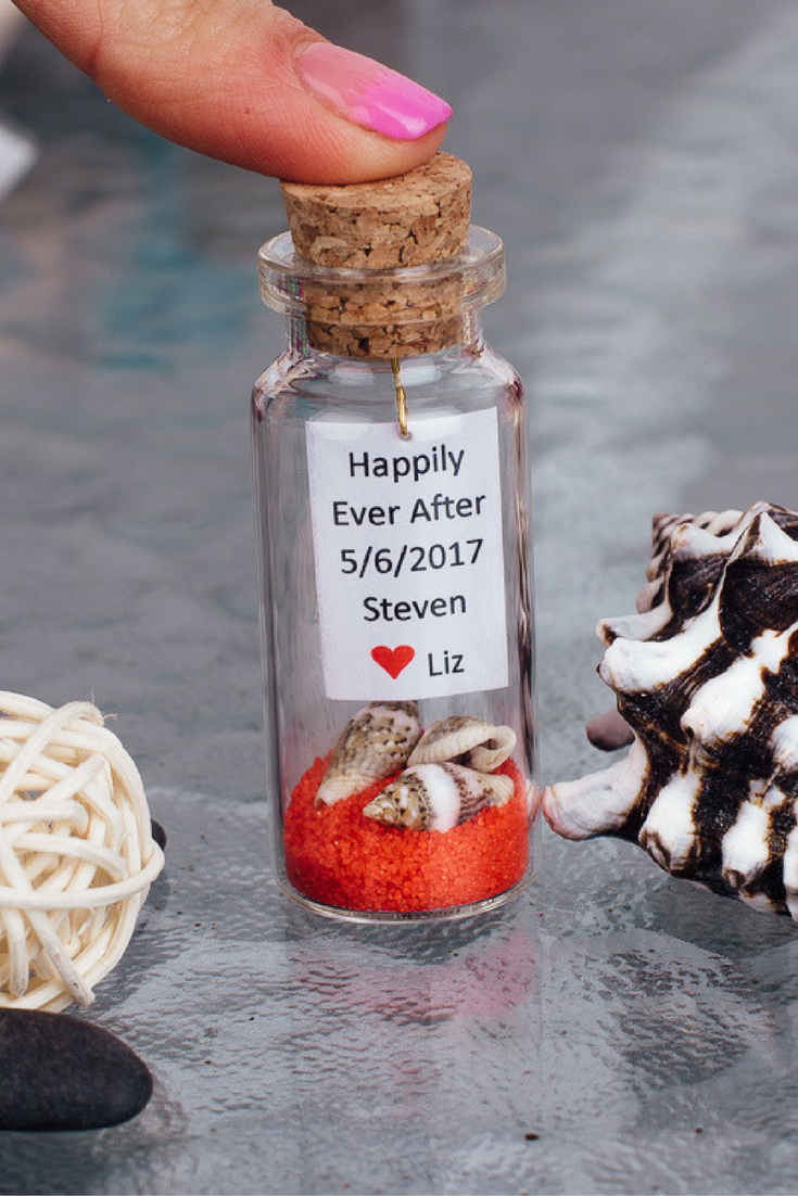 Personalized Wedding Favors Beach Wedding Message In Bottle