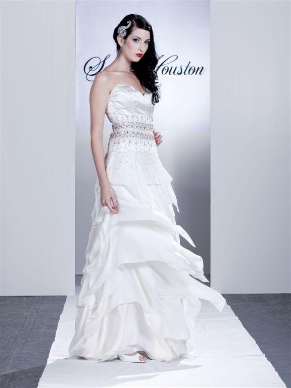 Allessandra-white-sweetheart-wedding-dress-silver-rhinestone-cumberbund-tiered-skirt.full