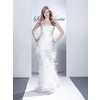 Sawy-white-strapless-column-wedding-dress-pleating-feathers.square