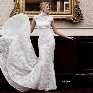 Mock Turtleneck Wedding Dress