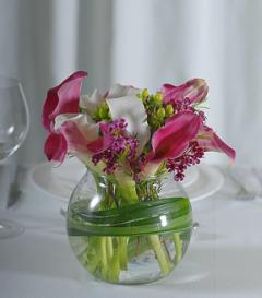 photo of Pink Calla & White Stargazer Lily Centerpiece