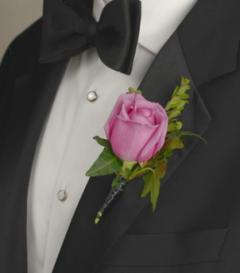 photo of Lavender Rose Boutonniere