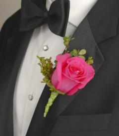 photo of Pink Rose Boutonniere