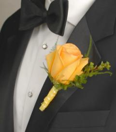 photo of Yellow Rose Boutonniere