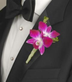 photo of Purple Dendrobium Orchid Boutonniere