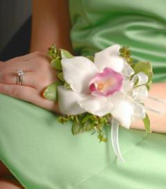 photo of White Cymbidium Orchid Corsage