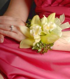 photo of Green Cymbidium Orchid Corsage