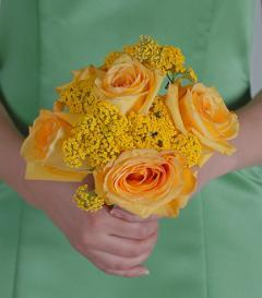 Yellow Rose Bridesmaid Bouquet