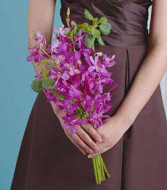 photo of Purple Orchid Bridesmaid Bouquet