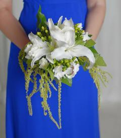 photo of White Lily Bridesmaid Bouquet