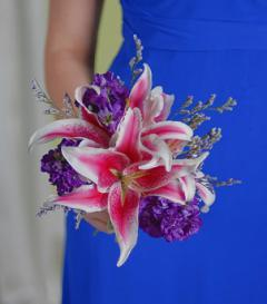 photo of Stargazer Lily Bridesmaid Bouquet