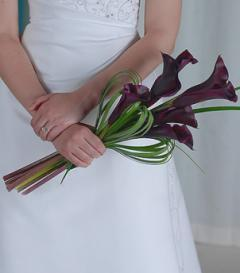 photo of Burgundy Calla Lily Bridal Bouquet