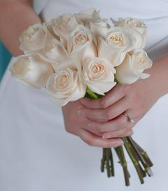 photo of White Rose Bridal Bouquet