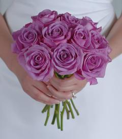 Lavender Rose Bridal Bouquet