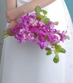 photo of Purple Orchid Bridal Bouquet