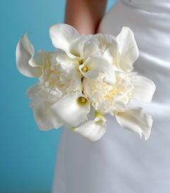 photo of White Peony & Calla Lily Bridal Bouquet