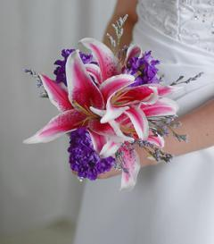 photo of Stargazer Lily Bridal Bouquet
