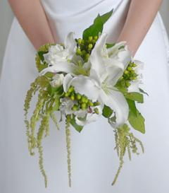 photo of White Lily Bridal Bouquet