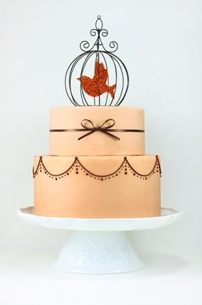 photo of EatCakeBeMerry- Modern Birdcage Cake