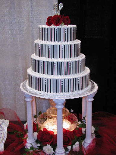 Red-white-blue-wedding-cake-vertical-stripes-stacked-tiered-red-roses-on-top.original