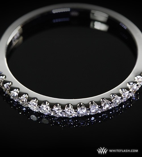 photo of Wedding Ring, Whiteflash, 15 melee diamonds, Platinum