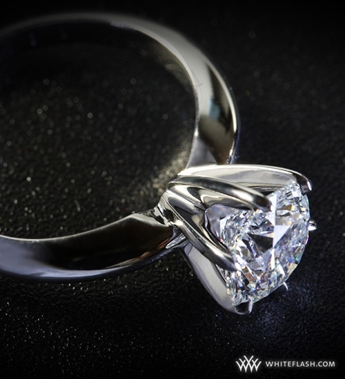 photo of Engagement Ring: 6-Prong, Tiffany-Style Diamond Setting