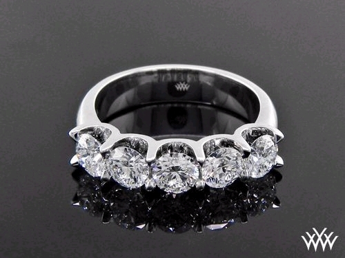 Engagement Ring: 'Skye' 5-Stone, U-Prong, Diamond Setting