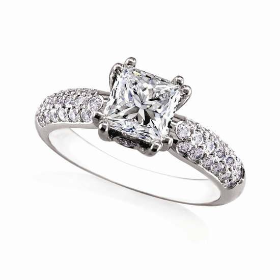 Engagement Ring: WhiteFlash, 'Rhapsody' Pave Diamond Setting