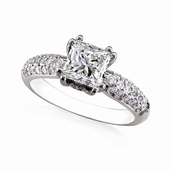 photo of Engagement Ring: WhiteFlash, 'Rhapsody' Pave Diamond Setting