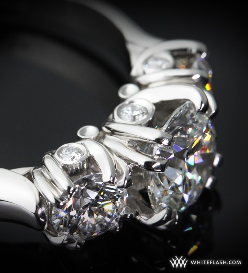 Engagement Ring: WhiteFlash, 3-Stone, U-Prong Diamond Setting