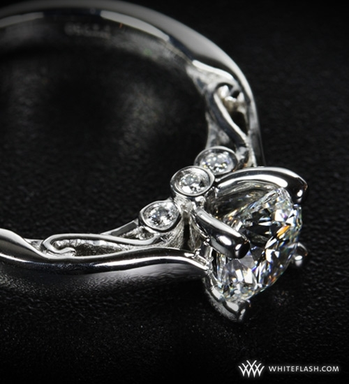 Engagement Ring: WhiteFlash, 4-Prong, Santorini Setting
