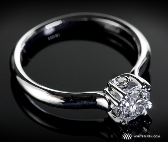 Engagement Ring: WhiteFlash 'U-Prong' Half Round Diamond Setting