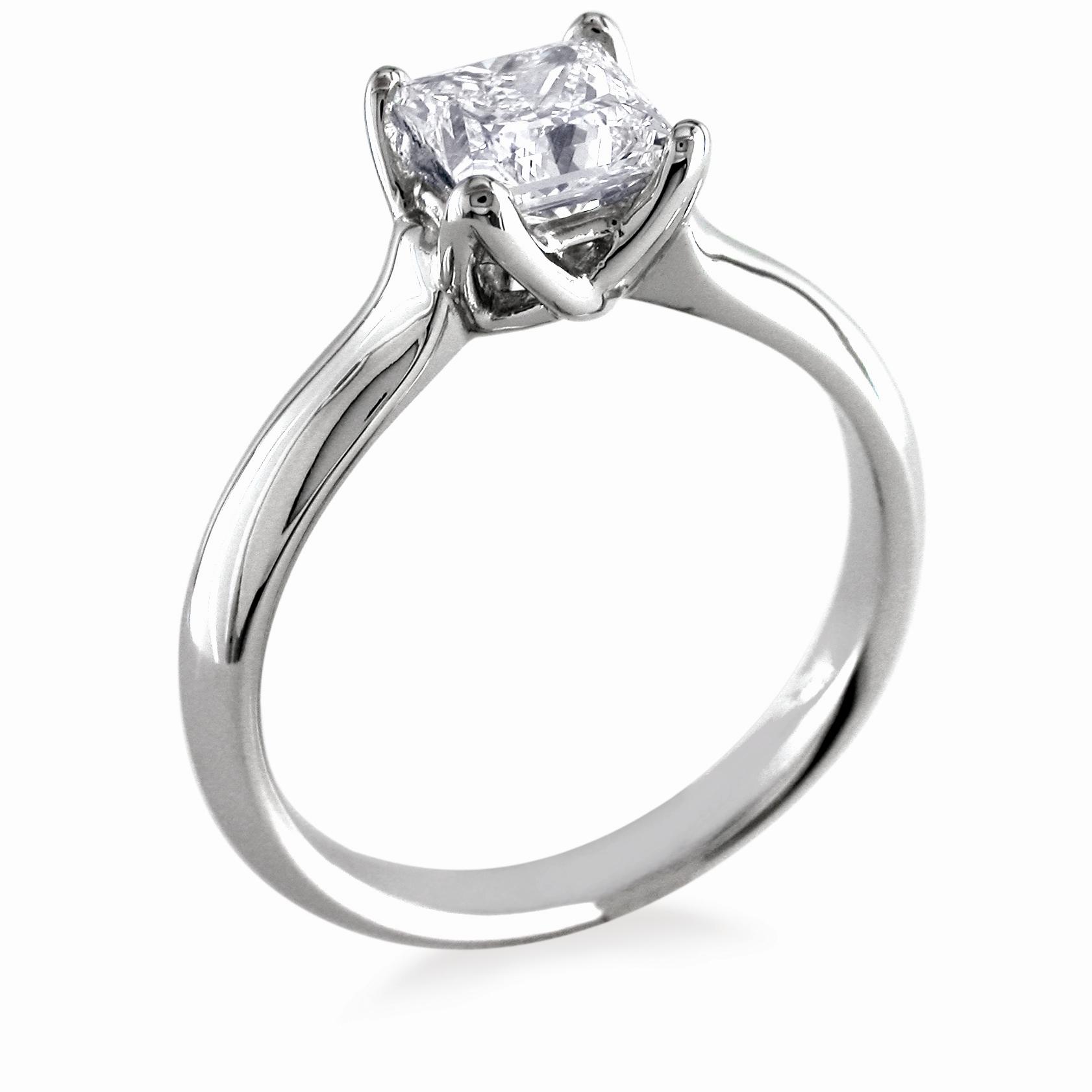 engagement ring whiteflash w prong setting onewed