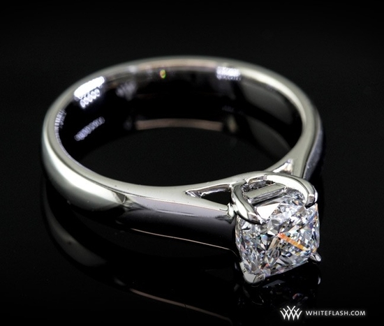 Engagement Ring: 'X-Prong' Trellis Solitaire Diamond Setting