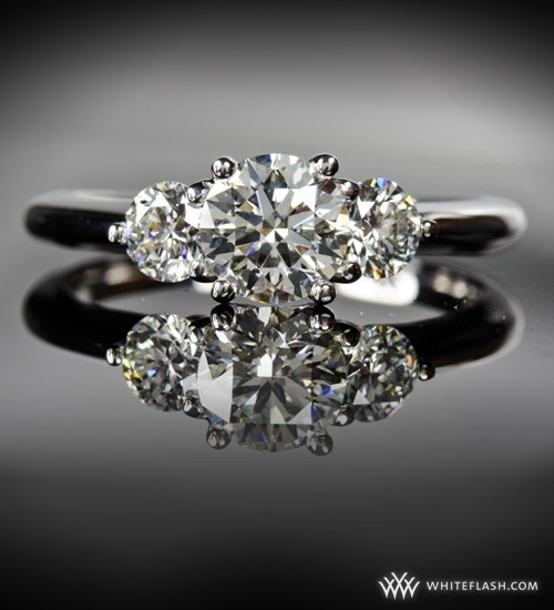 Engagement Ring: WhiteFlash, 'Trois Brilliant' 3-Stone Diamond Setting