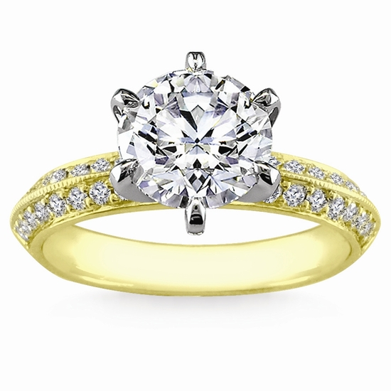 Engagement Ring: WhiteFlash, Pave Knife-Edge Diamond Setting