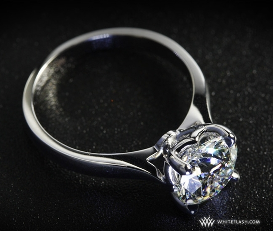 photo of Engagement Ring: WhiteFlash, Sleek Line Pave Diamond Setting