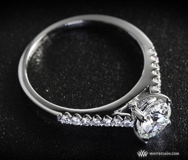 Engagement Ring: Petite Open Cathedral Diamond Setting
