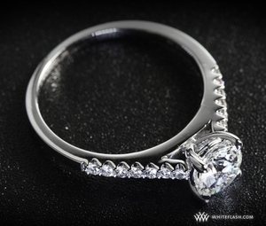 photo of Engagement Ring: Petite Open Cathedral Diamond Setting