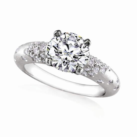 "photo of Engagement Ring: WhiteFlash, ""Champagne"" Pave Diamond Setting"
