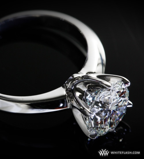 Engagement Ring: Classic Tiffany Knife-Edge Diamond Setting