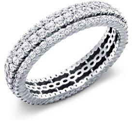 photo of Eterning Ring: 3 Rows Pave Diamonds, Platinum