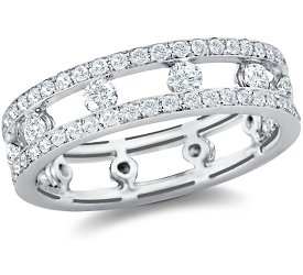 Eternity Ring: Diamond, Channel-Set, Pave, White Gold